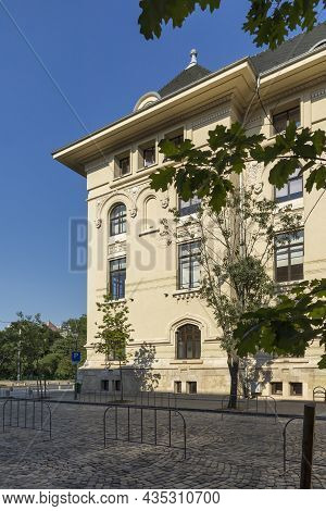 Bucharest, Romania - August 16, 2021: Building Of City Hall At The Center Of City Of Bucharest, Roma