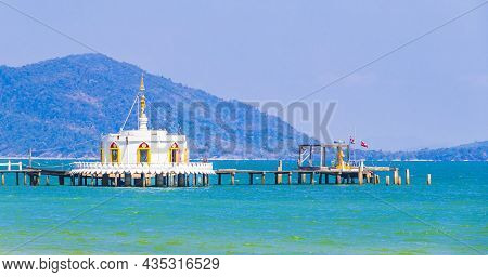 Thai Temple In The Water And Paradise Koh Phayam Thailand.