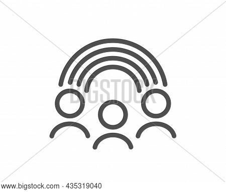 Inclusion Line Icon. Equity Culture Sign. Gender Diversity Symbol. Quality Design Element. Line Styl