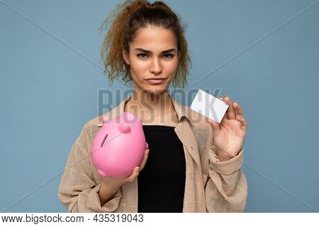 Young Dissatisfied Sad Upset Winsome Attractive Brunette Curly Woman With Sincere Emotions Wearing S