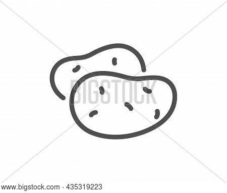 Potato Line Icon. Vegetable Food Sign. Diet Nutrition Symbol. Quality Design Element. Line Style Pot