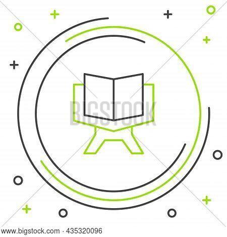 Line Holy Book Of Koran Icon Isolated On White Background. Muslim Holiday, Eid Mubarak, Eid Al-fitr,