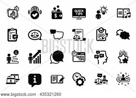 Vector Set Of Education Icons Related To Feedback, Statistics Timer And Outsource Work Icons. Quick
