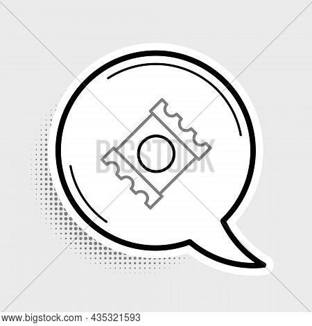 Line Condom In Package Safe Sex Icon Isolated On Grey Background. Safe Love Symbol. Contraceptive Me