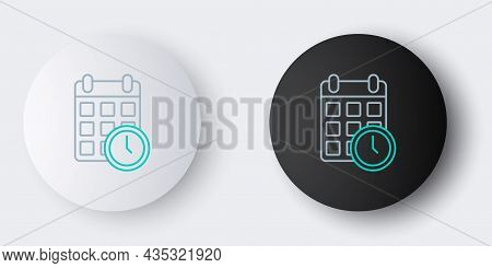 Line Carton Cardboard Box And Fast Time Delivery Icon Isolated On Grey Background. Box, Package, Par