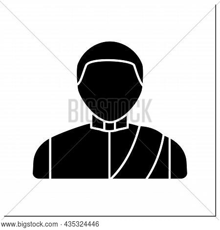 Man Glyph Icon. Thai Man In Traditional Suit. Country Citizen.thailand Concept. Filled Flat Sign. Is