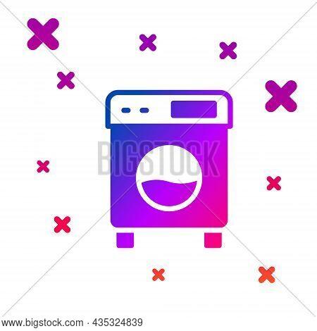 Color Washer Icon Isolated On White Background. Washing Machine Icon. Clothes Washer - Laundry Machi