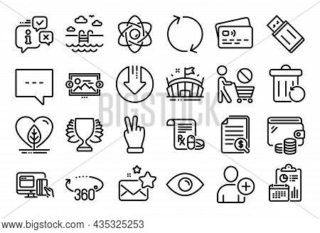 Vector Set Of Victory Hand, Blog And Add User Line Icons Set. Calendar Report, Money Wallet And Cred