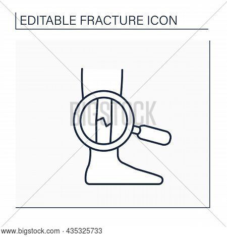 Examination Line Icon.diagnostic Feet Fracture.orthopaedic Examination. Healthcare Concept. Isolated