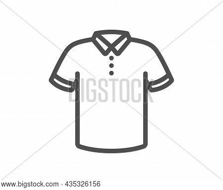 T-shirt Line Icon. Tee Shirt Wear Sign. Fabric Sport Clothes Symbol. Quality Design Element. Line St