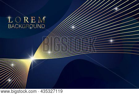 Award Nomination Concept. Elegant Poster With Golden Shining Line And Abstract Figure. Design Elemen