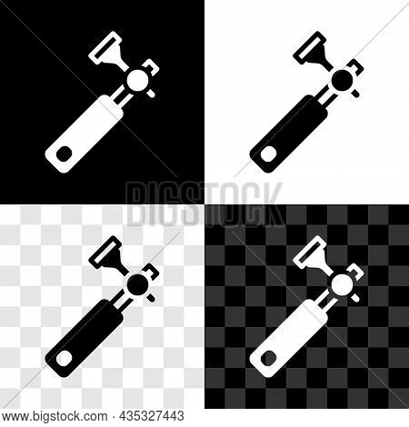 Set Jewelers Lupe For Diamond Grading With Dimond Icon Isolated On Black And White, Transparent Back
