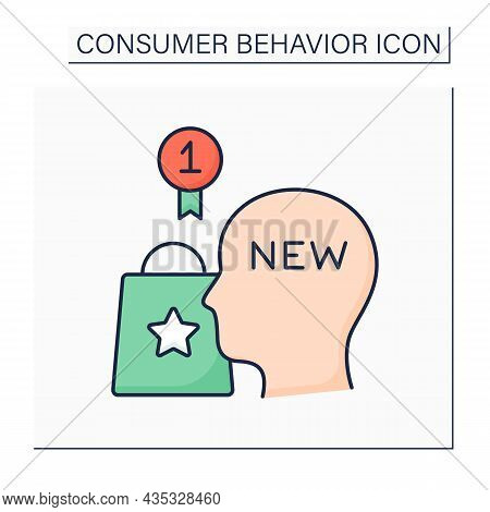 Innovators Color Icon. People Try Products For The First Time. Examination Goods And Services. Consu