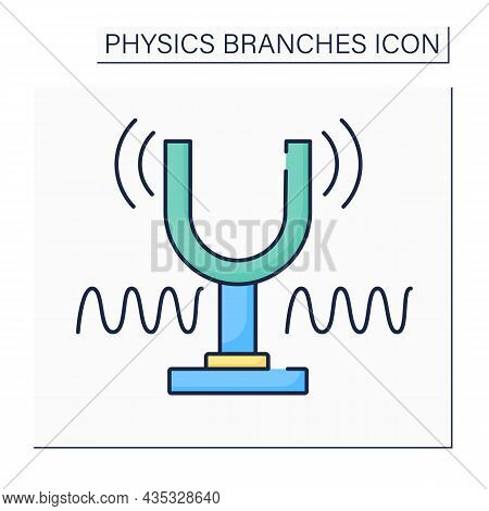 Sound And Waves Color Icon.oscillation In Pressure, Stress, Particle Displacement, Particle Velocity