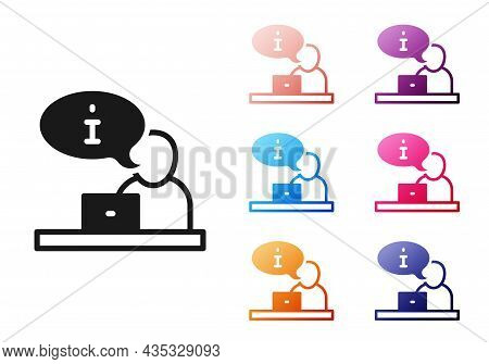 Black Television Report Icon Isolated On White Background. Tv News. Set Icons Colorful. Vector