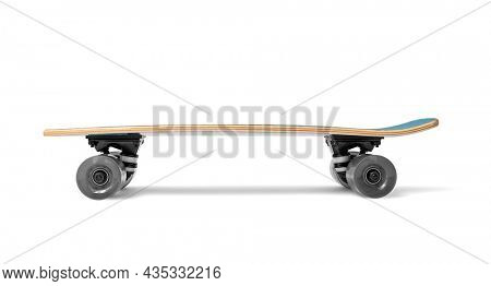 Skateboard isolated on white background with clipping path