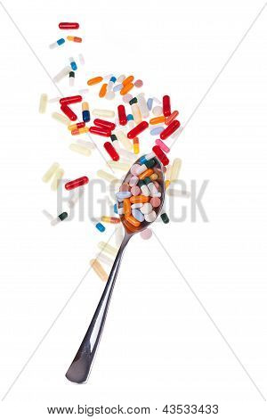 Drugs And Spoon Vertical