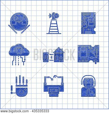 Set Smart Home, Worker Robot, Printed Circuit Board Pcb, Mechanical Hand, Internet Of Things, Electr