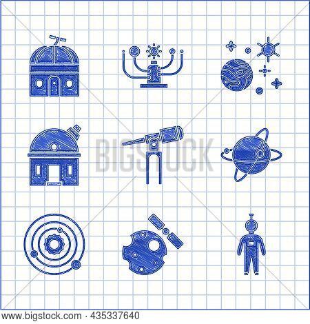 Set Telescope, Satellites Orbiting The Planet Earth, Astronaut, Solar System, Astronomical Observato
