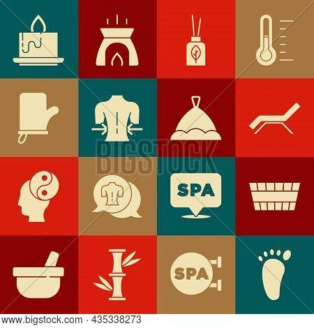 Set Foot Massage, Sauna Bucket, Sunbed And Umbrella, Aroma Diffuser, Massage, Mittens, Candle And Ha