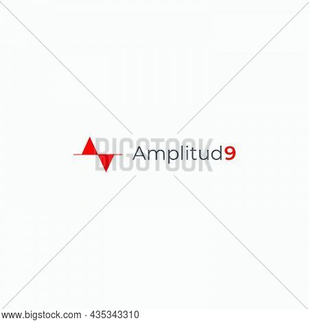 Amplitude 9 And Wave 9 Abstract Lettering Wave Abstract