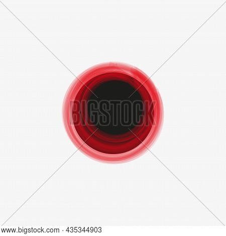 Red Grunge Circle Icon. Overlapping Round Elements. Creative Art. Abstract Design. Vector Illustrati