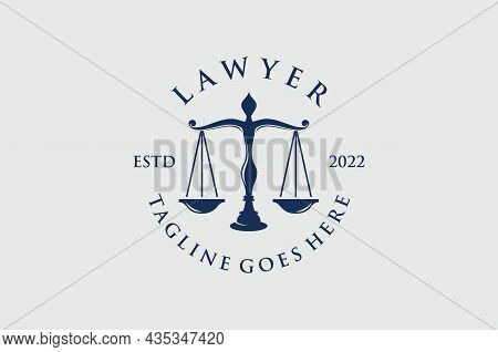 Vector Vintage Attorney, Advocate Label, Juridical Company Badge Collection. For Attorney Justice La