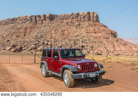 The Famous Off-road Jeep Vehicle In Glen Canyon Nr, Arizona