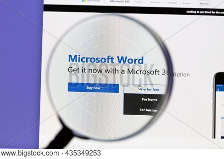 Ostersund, Sweden - Oct 6, 2021 Microsoft Word website. Microsoft Word is a word processor developed by Microsoft.