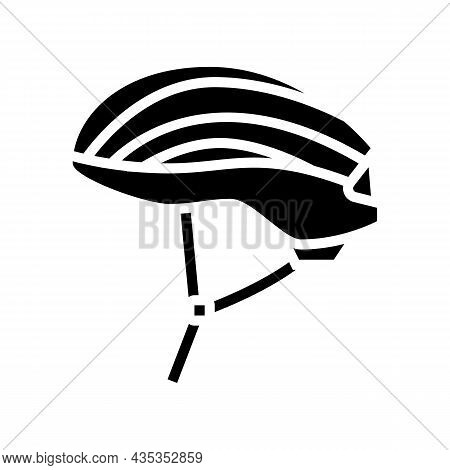 Helmet Protect For Cyclist Glyph Icon Vector. Helmet Protect For Cyclist Sign. Isolated Contour Symb