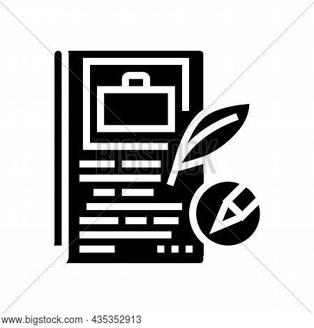 Storytelling Writing Glyph Icon Vector. Storytelling Writing Sign. Isolated Contour Symbol Black Ill