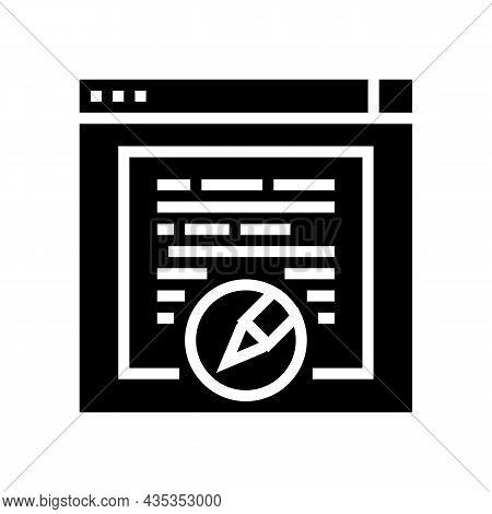 Websites Copywriting Glyph Icon Vector. Websites Copywriting Sign. Isolated Contour Symbol Black Ill