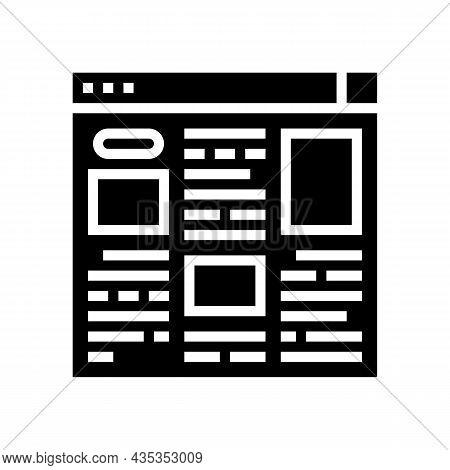 Article Web Information Glyph Icon Vector. Article Web Information Sign. Isolated Contour Symbol Bla