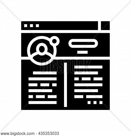 Blog Social Media Glyph Icon Vector. Blog Social Media Sign. Isolated Contour Symbol Black Illustrat