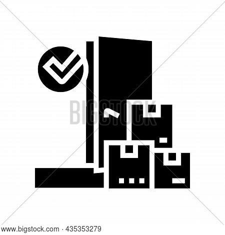 Door To Door Service Glyph Icon Vector. Door To Door Service Sign. Isolated Contour Symbol Black Ill