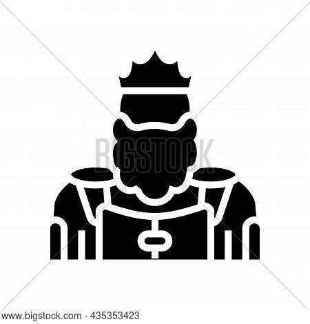 King Kingdom Glyph Icon Vector. King Kingdom Sign. Isolated Contour Symbol Black Illustration