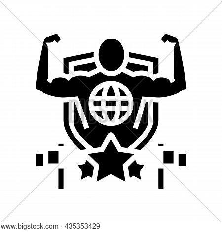 Patriotism Citizen Glyph Icon Vector. Patriotism Citizen Sign. Isolated Contour Symbol Black Illustr