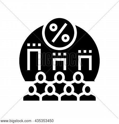 Parliament Voting Glyph Icon Vector. Parliament Voting Sign. Isolated Contour Symbol Black Illustrat