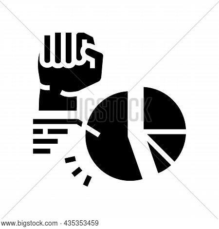 Majority Rule Glyph Icon Vector. Majority Rule Sign. Isolated Contour Symbol Black Illustration