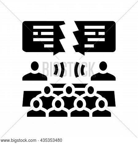Debate Candidates Glyph Icon Vector. Debate Candidates Sign. Isolated Contour Symbol Black Illustrat