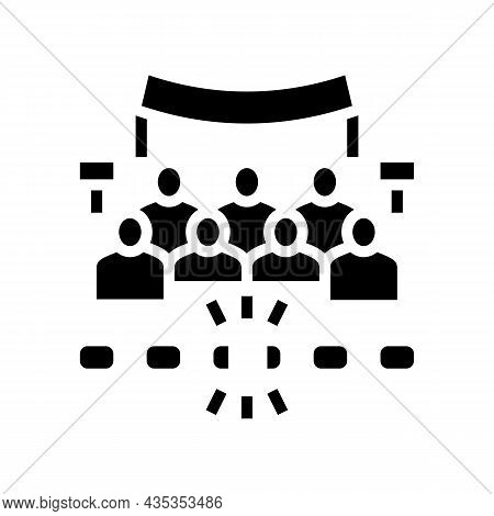 Freedom Of Assembly Glyph Icon Vector. Freedom Of Assembly Sign. Isolated Contour Symbol Black Illus