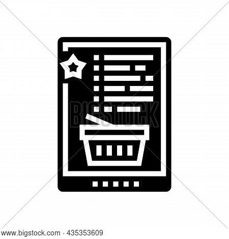 Wish List Glyph Icon Vector. Wish List Sign. Isolated Contour Symbol Black Illustration