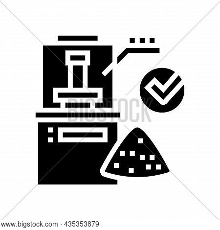 Wheat Quality Assessment Glyph Icon Vector. Wheat Quality Assessment Sign. Isolated Contour Symbol B