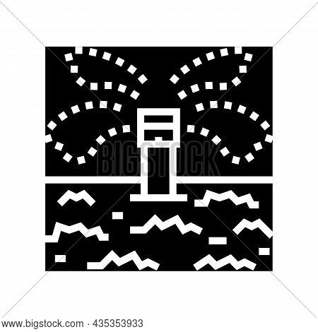 Irrigation System For Watering Glyph Icon Vector. Irrigation System For Watering Sign. Isolated Cont