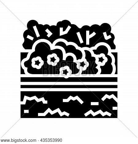 Landscape Install Glyph Icon Vector. Landscape Install Sign. Isolated Contour Symbol Black Illustrat