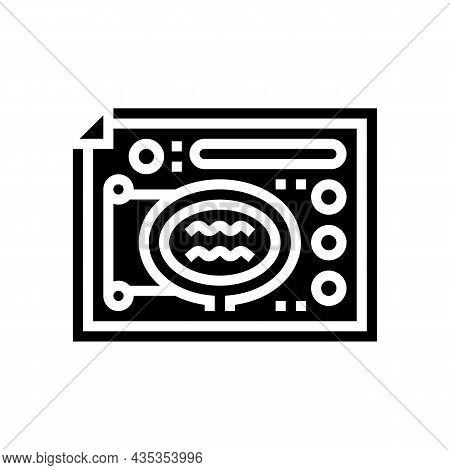 Landscape Design Plan Glyph Icon Vector. Landscape Design Plan Sign. Isolated Contour Symbol Black I