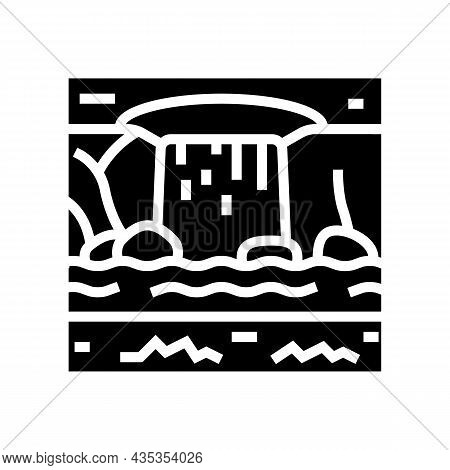 Water Features Glyph Icon Vector. Water Features Sign. Isolated Contour Symbol Black Illustration