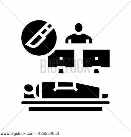 Long Distance Surgery Glyph Icon Vector. Long Distance Surgery Sign. Isolated Contour Symbol Black I