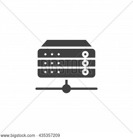 Rack Servers Vector Icon. Filled Flat Sign For Mobile Concept And Web Design. Database, Server Glyph