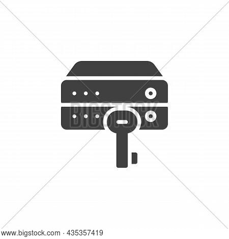 Data Encryption Vector Icon. Filled Flat Sign For Mobile Concept And Web Design. Database System Key